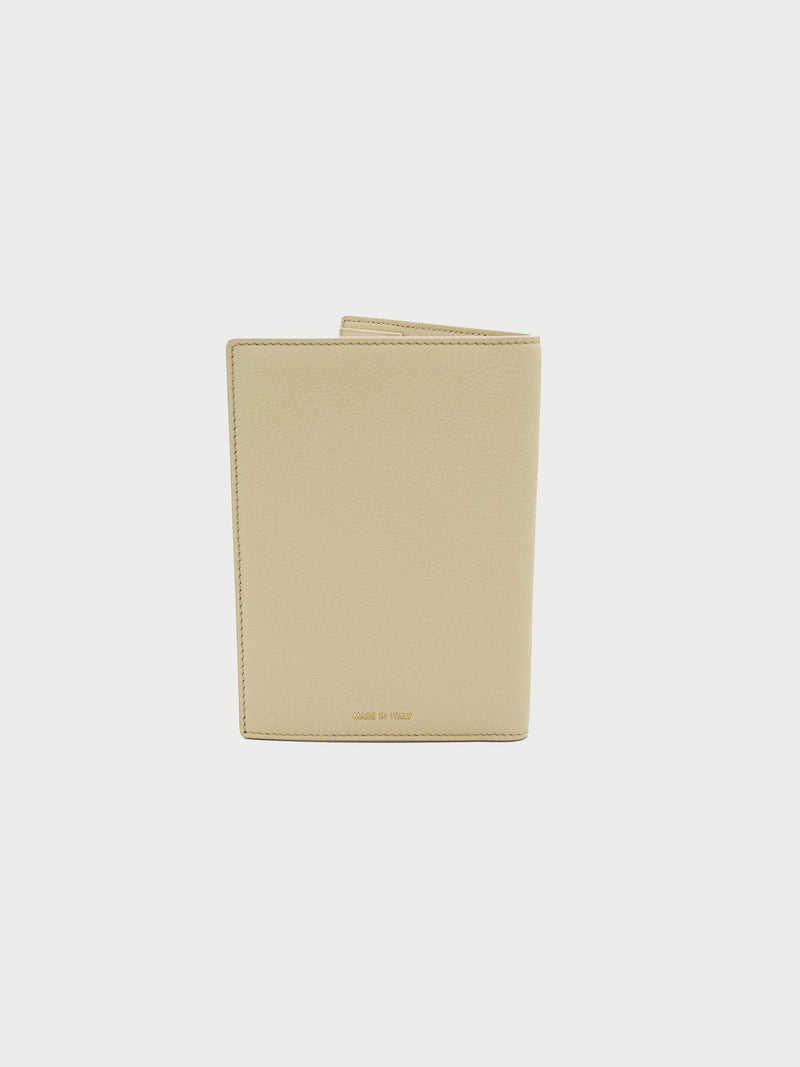 Passport Case Bone [Beige Passport Wallet, Leather Passport Wallet, Beige Passport Cases]