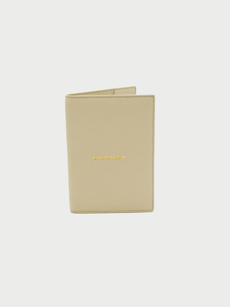 Passport Case Bone [Beige Leather Passport Case, Beige Small Passport Holders]