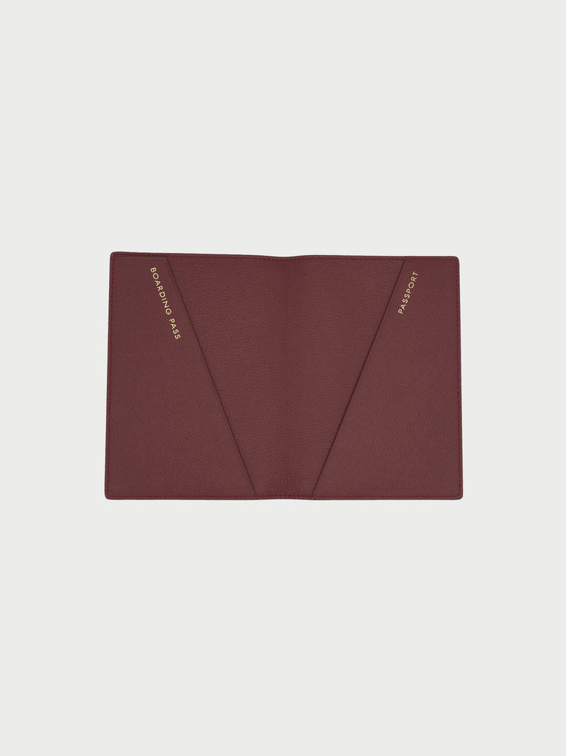 Passport Case Merlot [Passport Holder Designer, Burgundy Passport Holder, Red Passport Case]