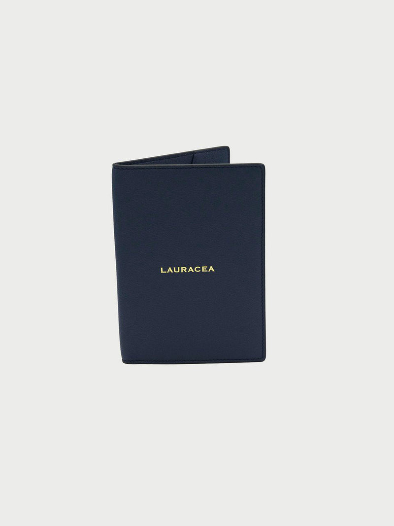 Passport Case Navy [Navy Leather Passport Case, Navy Small Passport Holders]