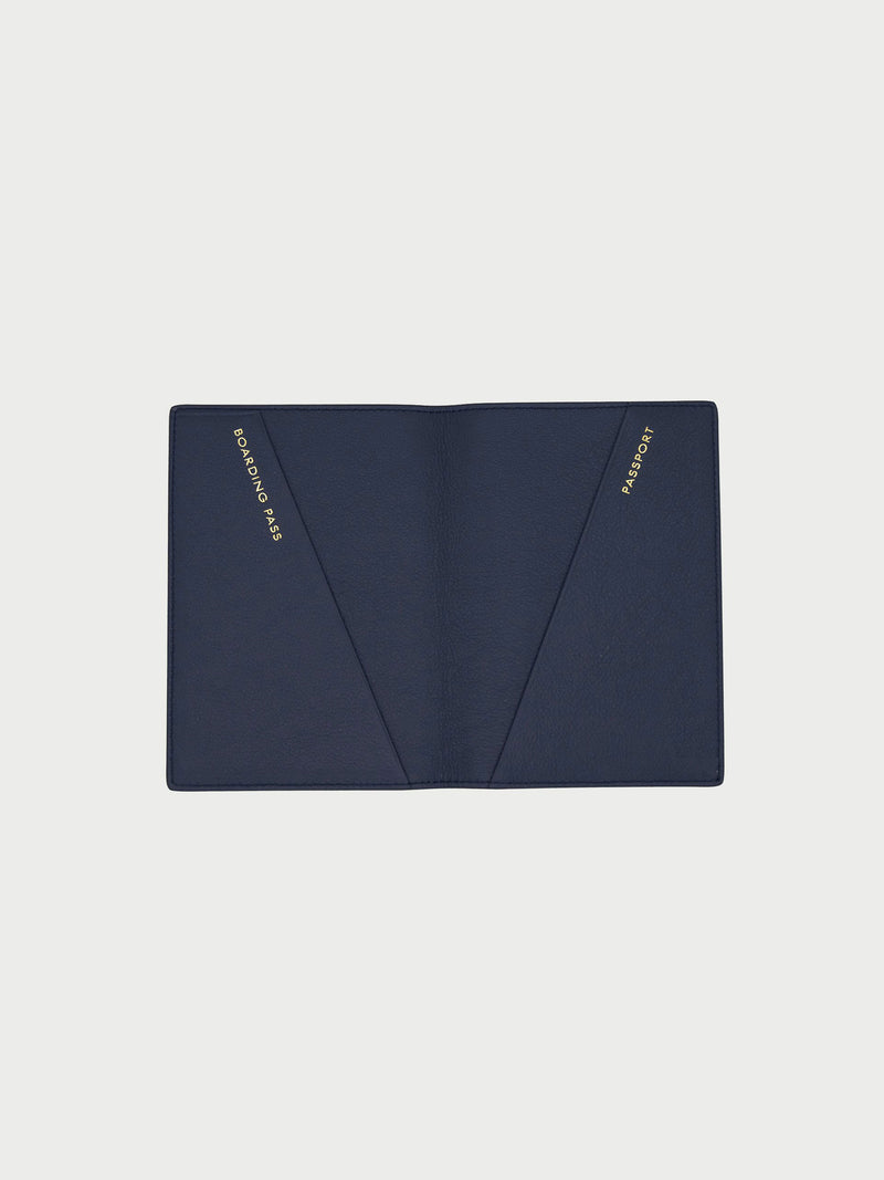 Passport Case Navy [Passport Holder Designer, Navy Passport Holder, Navy Passport Case]
