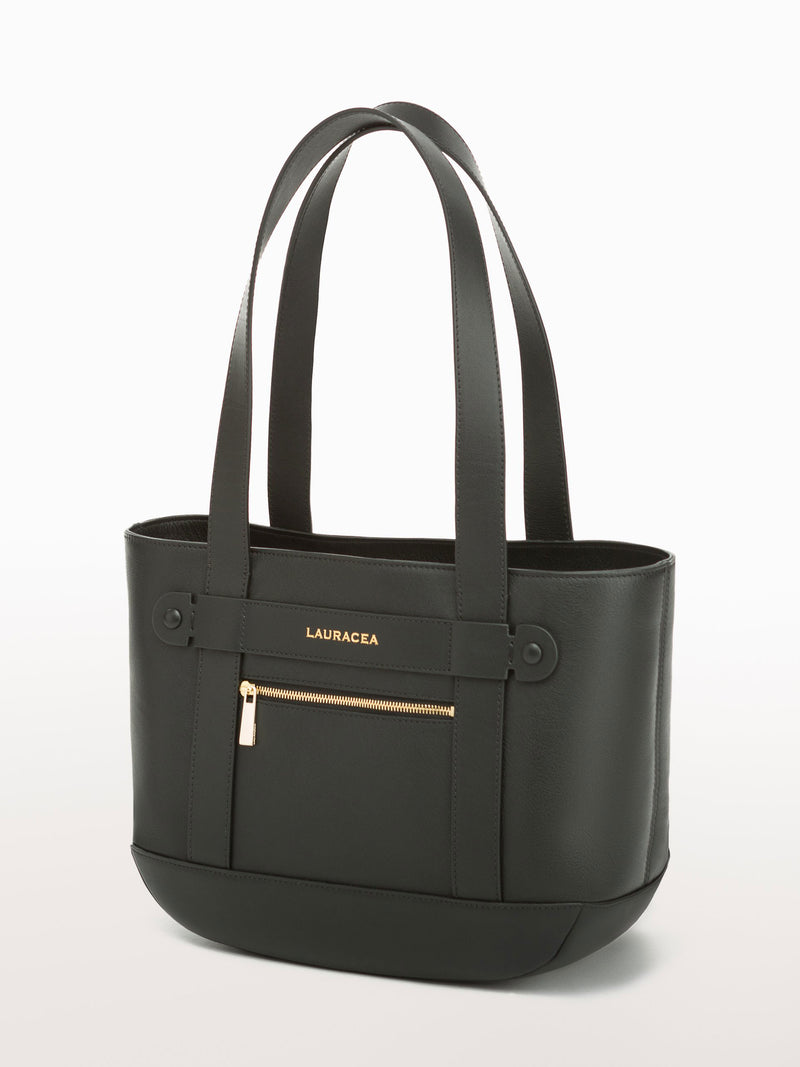 Petite Tote Black [Equestrian Fashion,Carryall bag, Purse, Leather Goods, Purse]