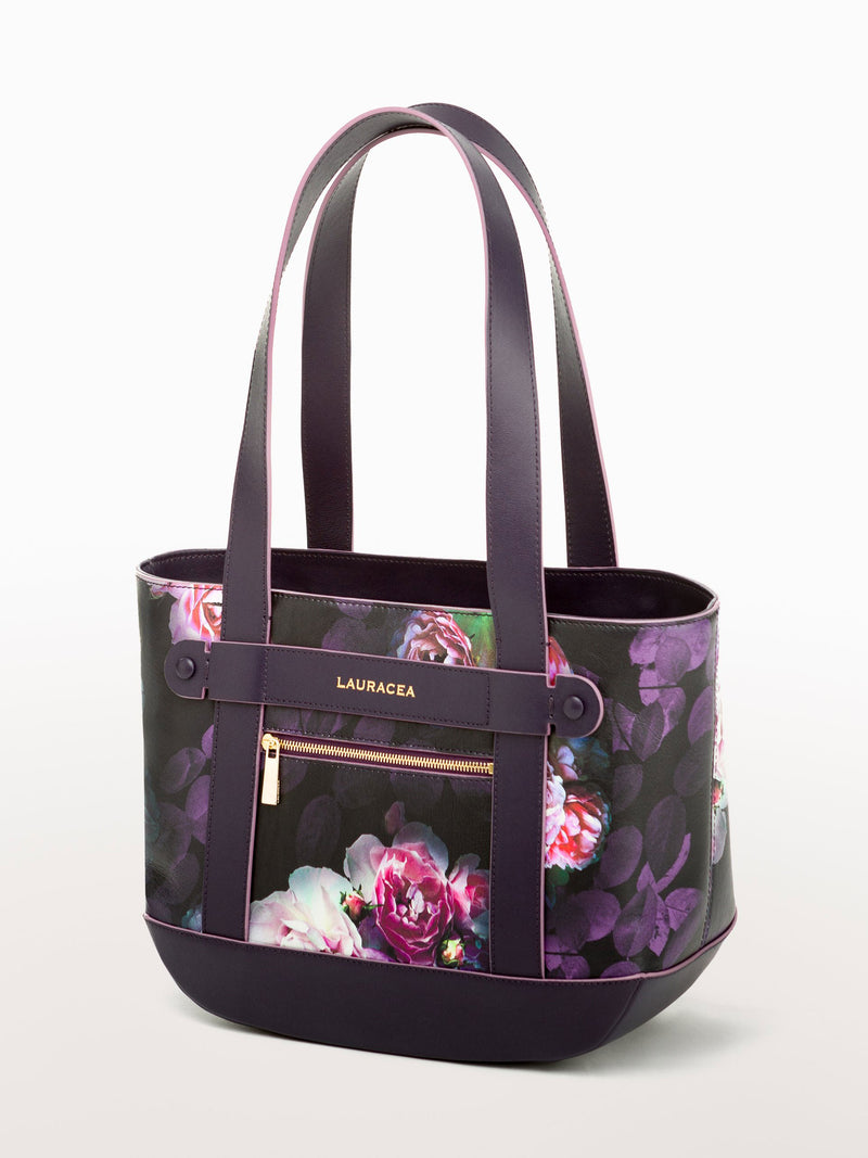Petite Tote Black Peony [Equestrian Fashion, Carryall bag, Purse, Leather Goods, Purse]