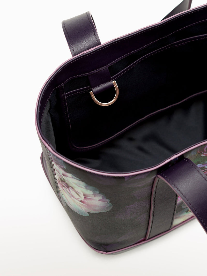 Petite Tote Black Peony [Travel Bag, Travel Accessories, Durable Purse, Carryall Tote]