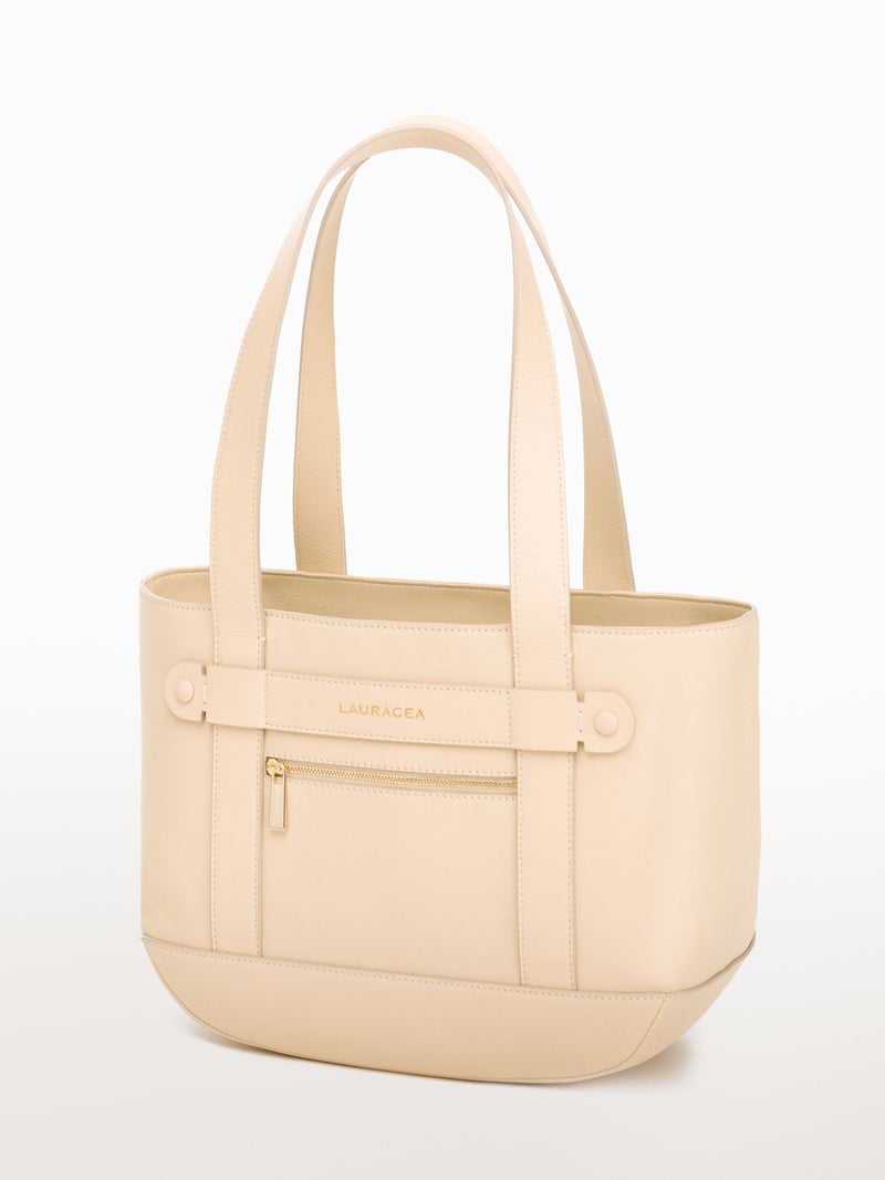 Petite Tote Bone [Equestrian Fashion, Carryall bag, Purse, Leather Goods, Purse]