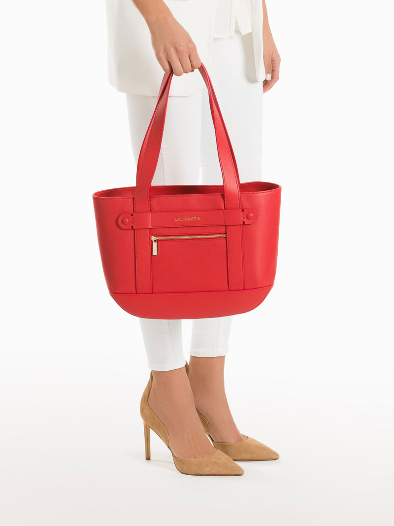 Petite Tote Poppy [Travel Bag, Italian Fashion, Luxury Handbag, Horse Show Circuit Wear]