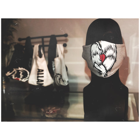 AM Heart Logo Grey Mask