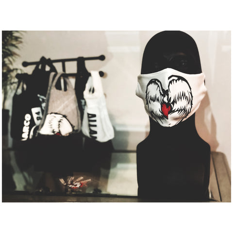 AM Heart Logo White Mask