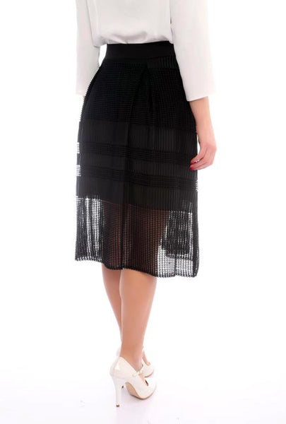 BLACK A LINE SKIRT - Marvy Fashion Boutique