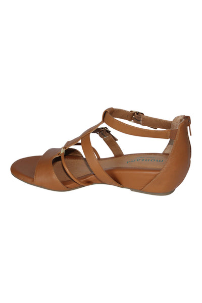 Montana T-Strap Leather Wedges - Marvy Fashion Boutique