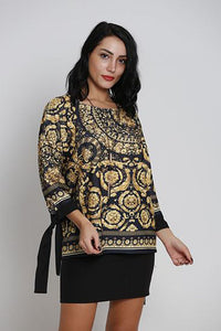 Jacquard Printed Top - Marvy Fashion Boutique
