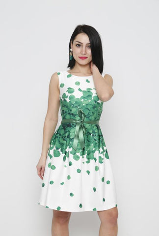 FLOWER PRINT DRESS - Marvy Fashion Boutique