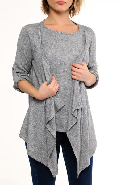 LAYERED LOOK CARDIGAN - Marvy Fashion Boutique