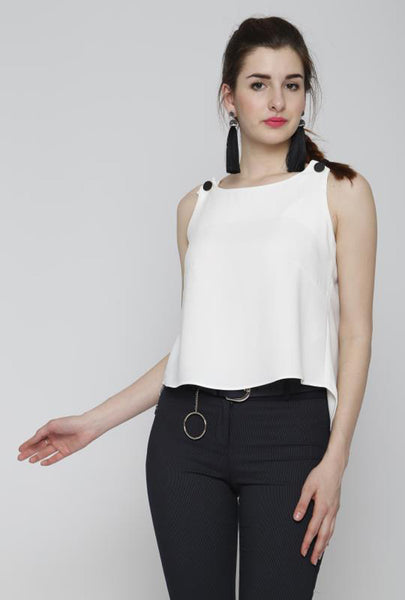 BUTTON DETAIL TOP - Marvy Fashion Boutique