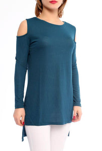 Cold-shoulder Tunic Top - Marvy Fashion Boutique