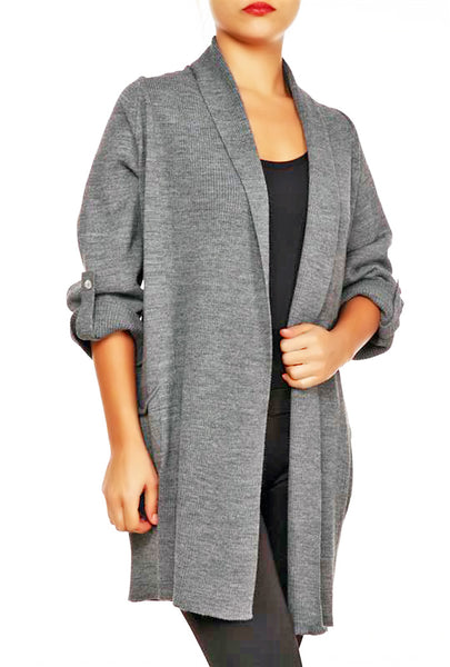 OPEN FRONT CARDIGAN - Marvy Fashion Boutique