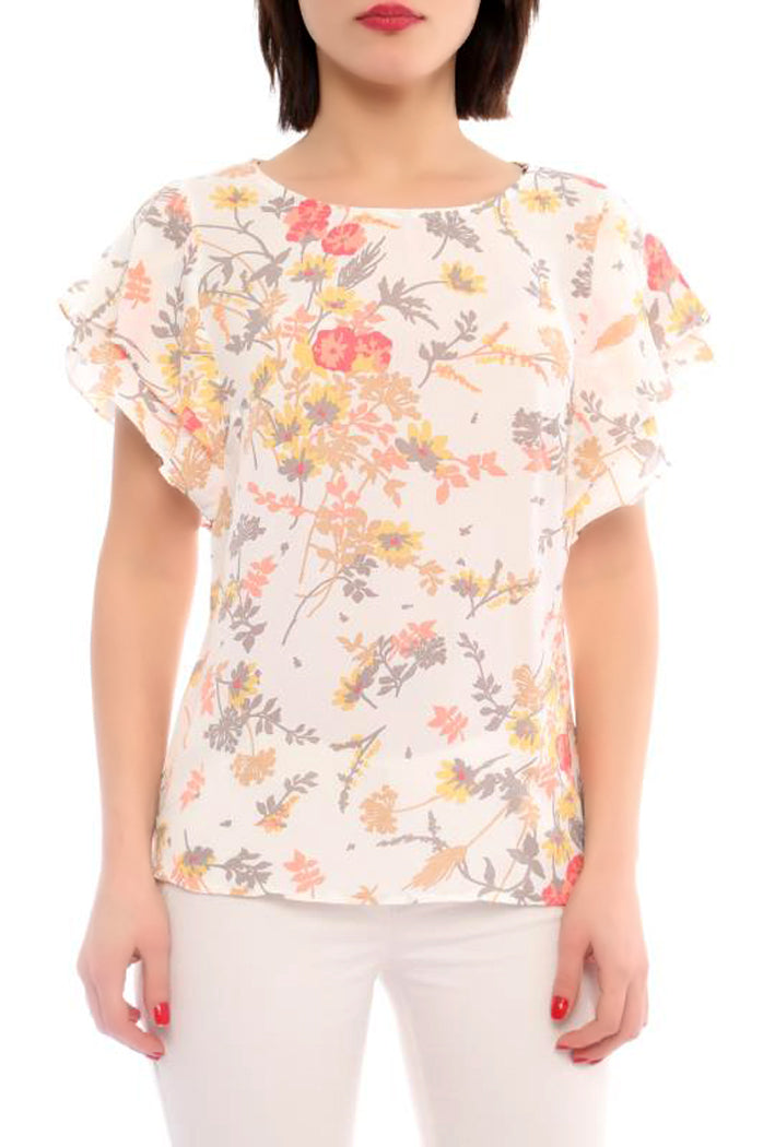 Flower Print Crop Top - Marvy Fashion Boutique