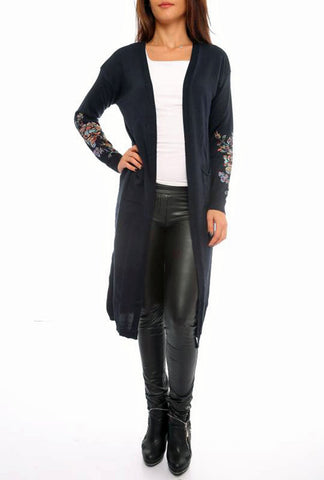 Open Front Long Cardigan - Marvy Fashion Boutique