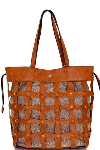 Woven Bucket Tote Bag - Marvy Fashion Boutique