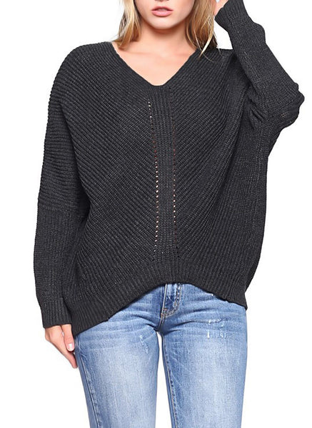 DOLMAN SLEEVE SWEATER - Marvy Fashion Boutique