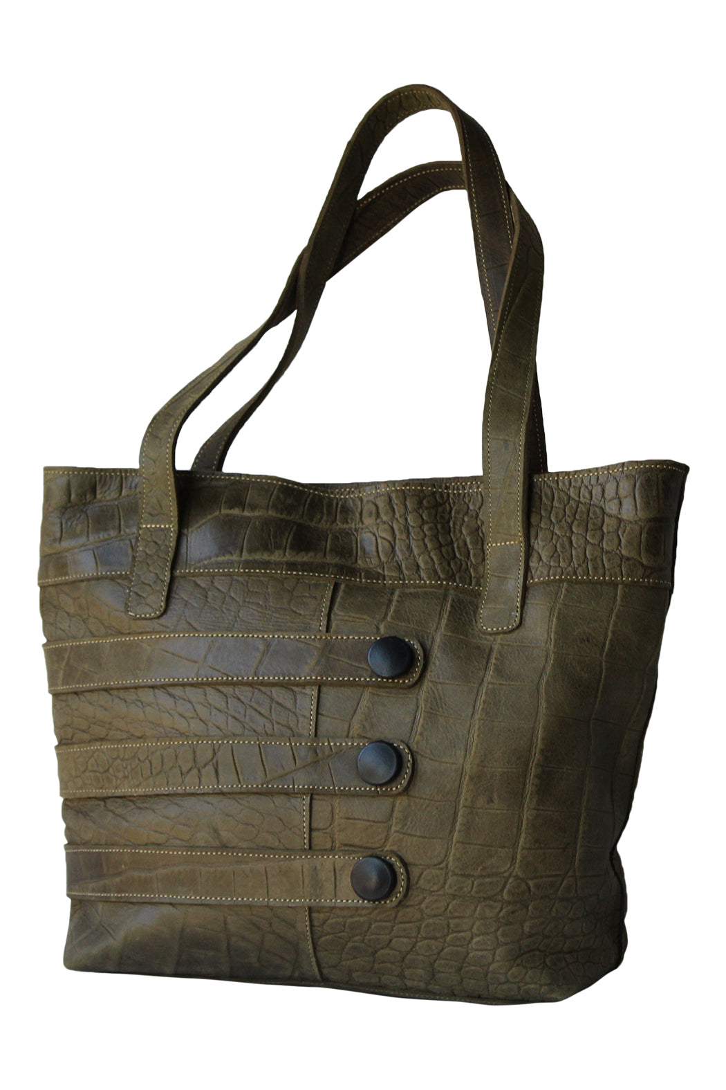 Olive Leather Hobo - Marvy Fashion Boutique