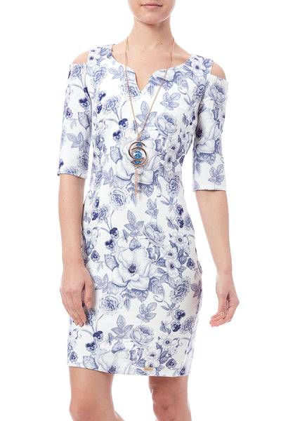 FLORAL PRINTED DRESS - Marvy Fashion Boutique