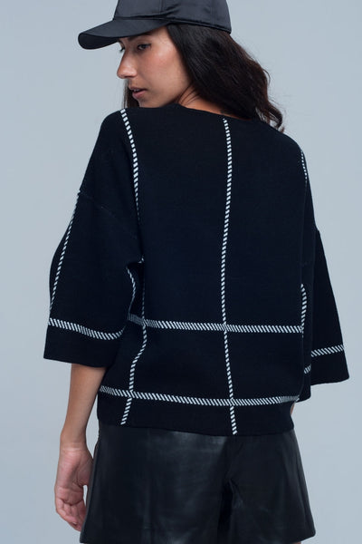 Striped Crop Sweater - Marvy Fashion Boutique