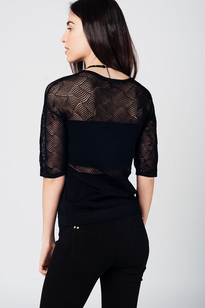 Black Knit Top - Marvy Fashion Boutique