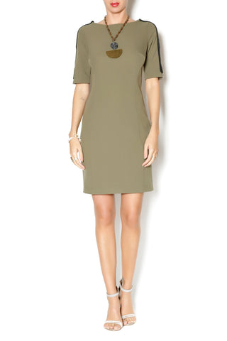 SHORT SLEEVE FITTED DRESS - Marvy Fashion Boutique