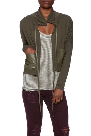 OLIVE CROPPED JACKET - Marvy Fashion Boutique
