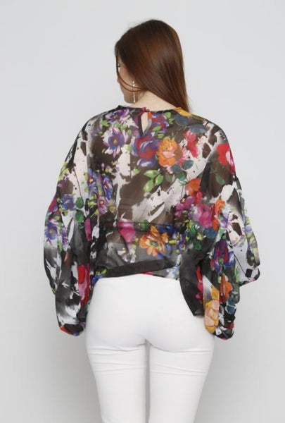 FLOWER PRINT TOP - Marvy Fashion Boutique