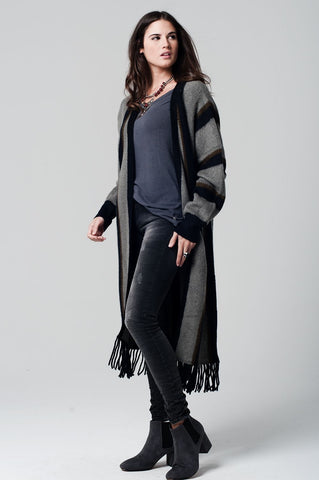 Long Striped Cardigan - Marvy Fashion Boutique