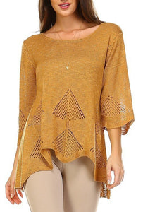 EYELET KNIT TOP - Marvy Fashion Boutique