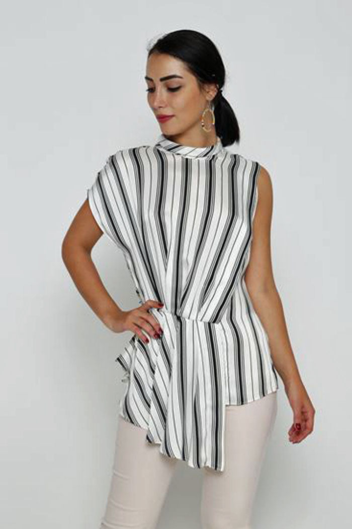 STRIPED BLOUSE - Marvy Fashion Boutique