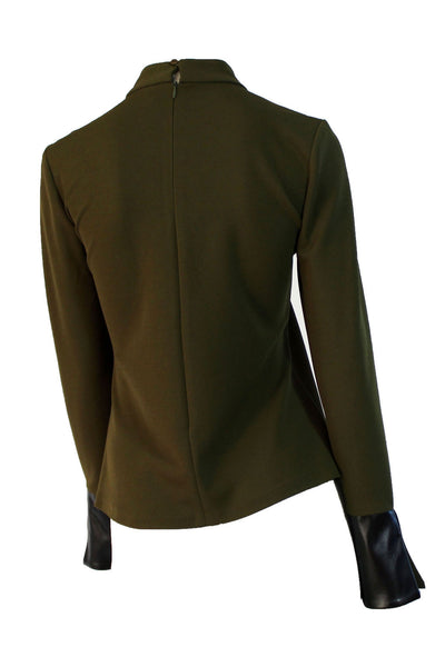 OLIVE CUT-OUT BLOUSE - Marvy Fashion Boutique