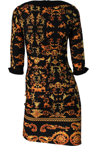 Printed Fitted Dress - Marvy Fashion Boutique