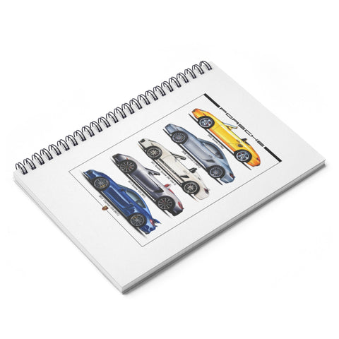 Boxster/Cayman Spiral Notebook - Ruled Line