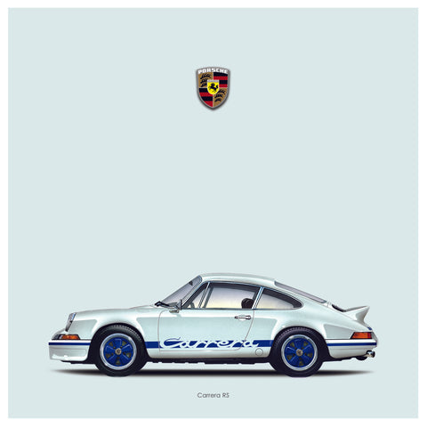 Carrera RS icon print