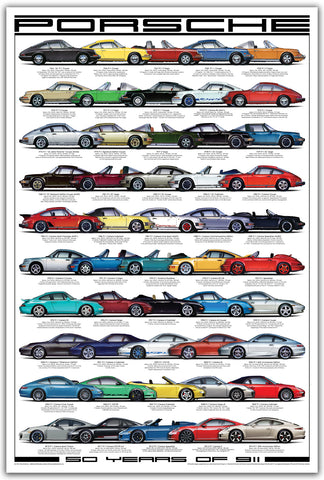 50 Years of 911 (limited edition print)