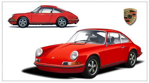 1969 911T two view