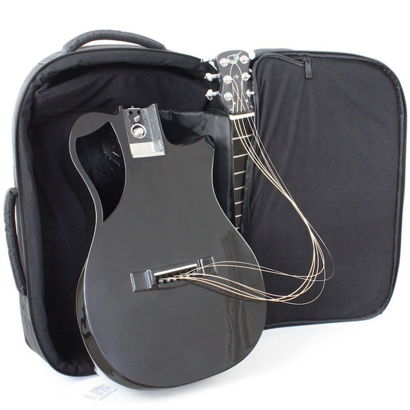 Journey Instruments Reisegitarre Carbon Schwarz Hochglanz OF660