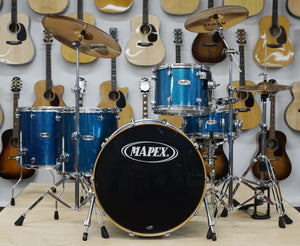 Mapex Drumset ProM Serie 5-teilig in Heaven Blue metallic mit Sabian Cymbals