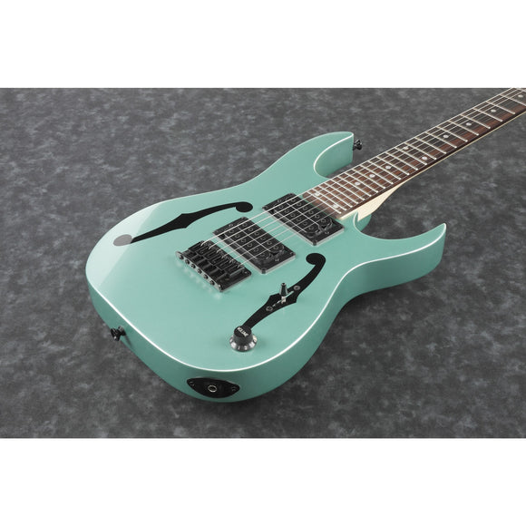 Ibanez Electric Guitar Paul Gilbert PGMM21 MGN Metallic Light Green inkl. Hülle