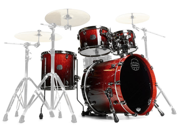 Mapex Drumset Saturn V Exotic Cherry Mist Maple Burl Fusion Size