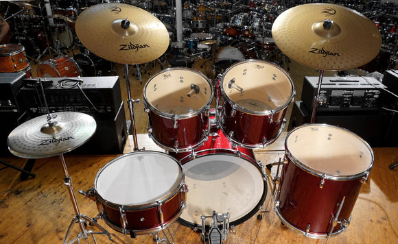 Pearl Drumset Forum Line in Red metallic inklusive Zildjian Planet Z Cymbalsatz - Occasion