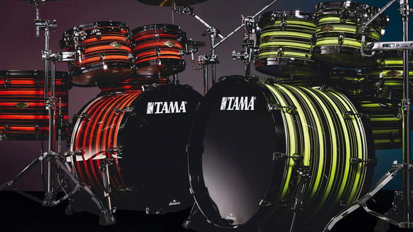 Tama Starclassic Drumset Neon Yellow or Orange Oyster