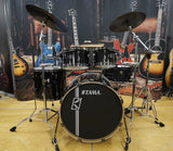 Tama Drumset Superstar Hyperdrive Maple Series in Brushed Charcol Black inkl. Cymbals