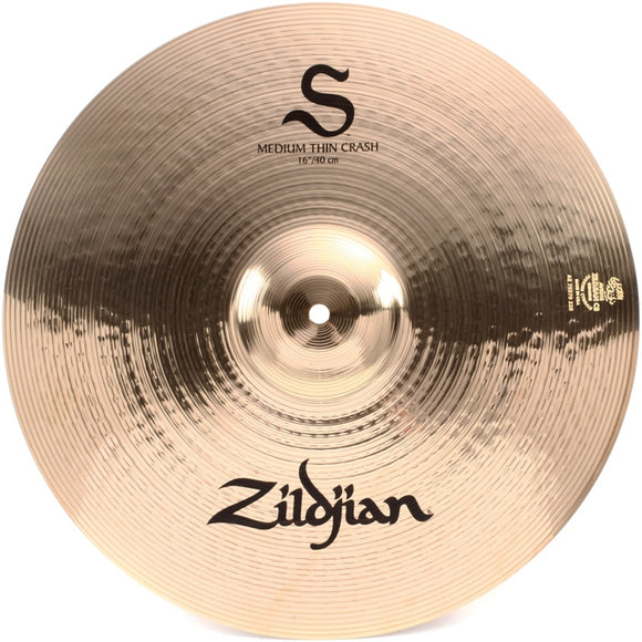 Zildjian S-Serie Medium Thin Crash 16 Inch, fabrikneu