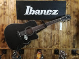 Ibanez Acoustic Guitar 12-String AW8412CE-WB Weathered Black