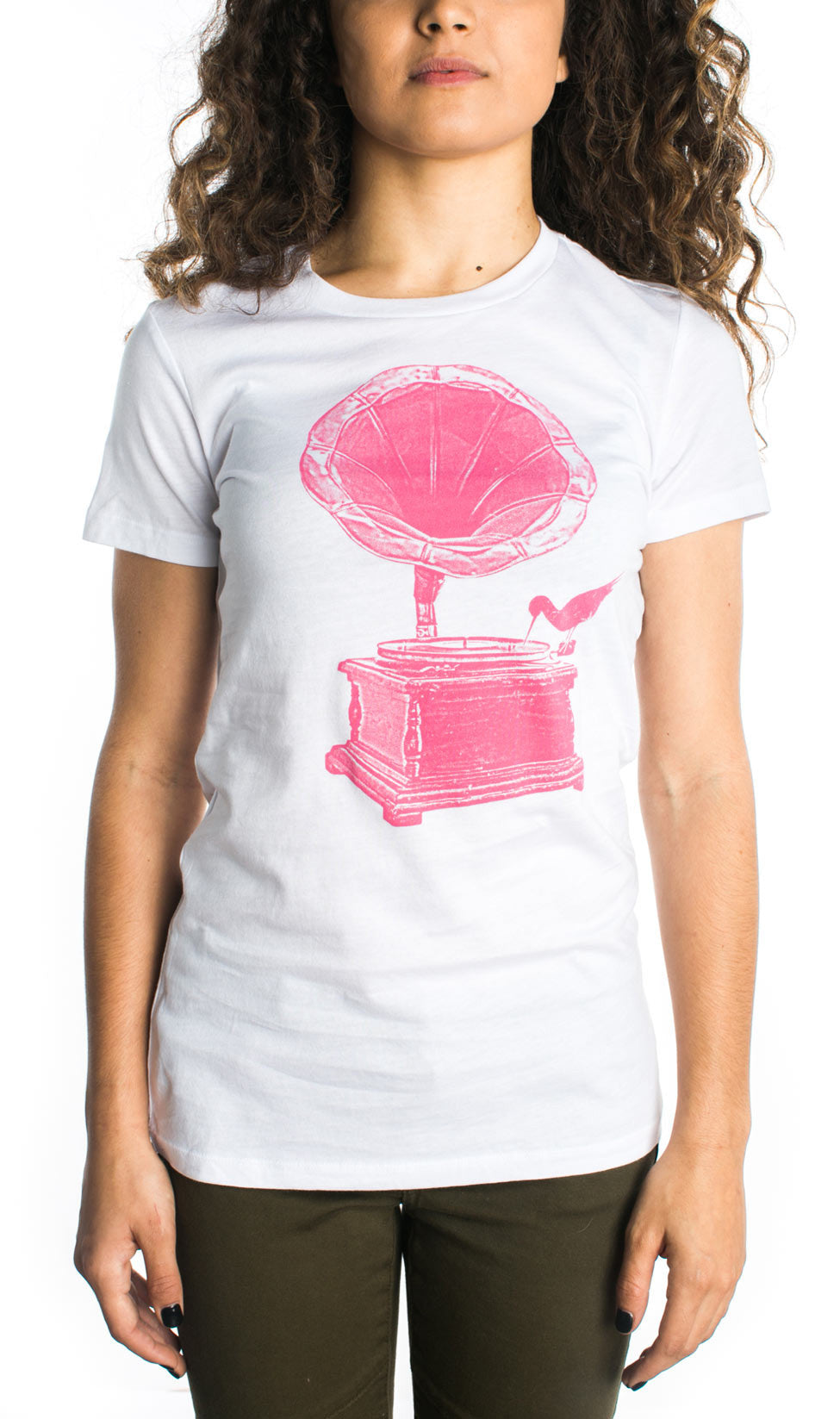 Tees Arka Someday Pink Floral Embroidery Top Gramophone Urban Streetwear